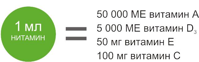 Нитамин A,D3,E,C фото, Состав
