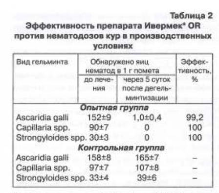 Эффективность препарата Ивермек OR при нематодозах птицы - изображение NITA FARM